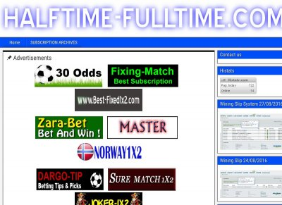 TOP 10 Sport Sites - Stats - Halftime-fulltime com