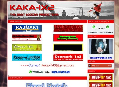 TOP 10 Sport Sites - Stats - Kaka-1x2 com